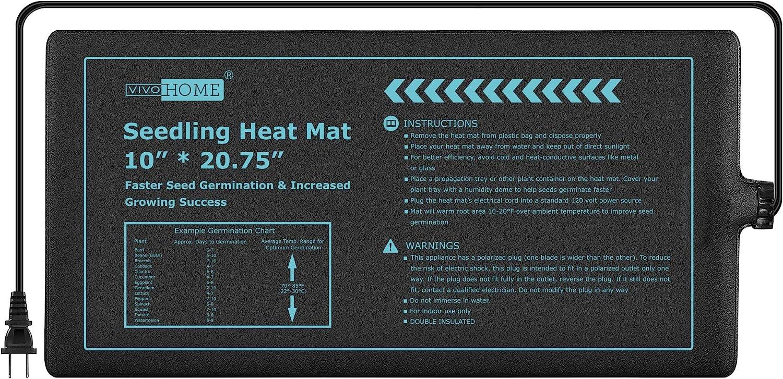 VIVOHOME 20W Waterproof Seedling Heat for Mat Prop Under blast sales Seed Starting Cheap mail order sales