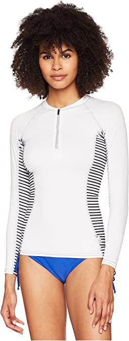 Long Sleeve Rashguard Front Zipper