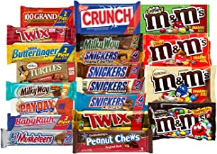 Chocolate Bars - Bulk Chocolate - Assorted Chocolates King Size Mix, All Your Favorite Chocolate Bars Including M&M, Snickers, Twix and More, 20 Extra Large Bars (King Size)