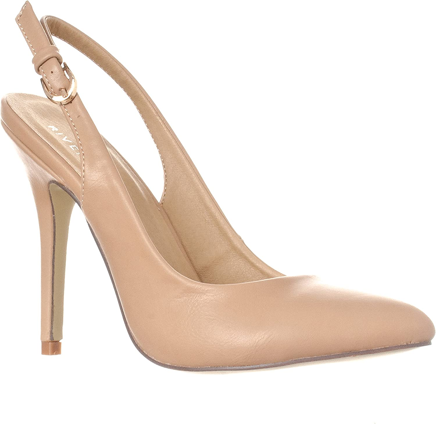 Riverberry Women's Lucy Pointed-Toe, Sling Back Pump Stiletto Heels