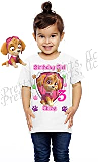 Girl Paw Patrol Birthday Shirt, Add Any Name and Age, Skye Birthday Party, Family Matching Shirts, Birthday Girl Shirts, Visit Our Shop
