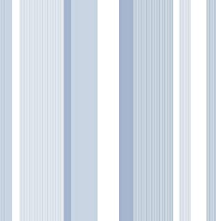Wall Pops NU1402 Blue Awning Stripe Peel and Stick Wallpaper