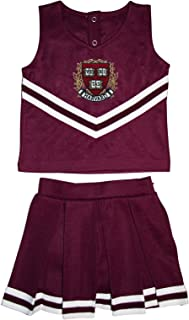 Harvard University Crest and Shield Toddler and Youth 3-Piece Cheerleader Dress