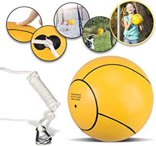 Mawelrate Tetherball Ball and Rope - Upgrade Your Volleyball Skills - Good for Spike Training - Portable Fun for The Park, Beach - Attach Swing Ball to Any Pole or Tree - 1pc