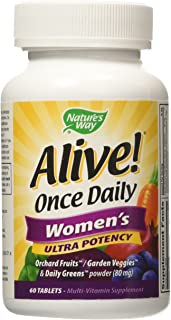 Nature's Way Alive Once Daily Women's Multi Ultra Potency, 60 Count