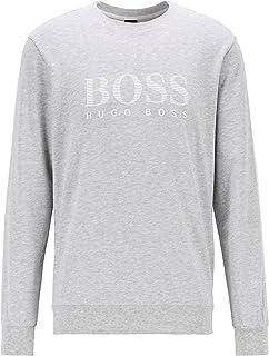 BOSS Hommes Authentic Sweatshirt Sweat en Molleton à Logo rayé et Bandes Contrastantes