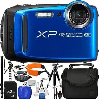 "Fujifilm FinePix XP120 Digital Camera (Blue) – International Version (No Warranty) with 13pc Accessory Bundle – Includes 32GB SD Memory Card + Small Carrying Case + 57"" Tripod + 72"" Monopod + More"