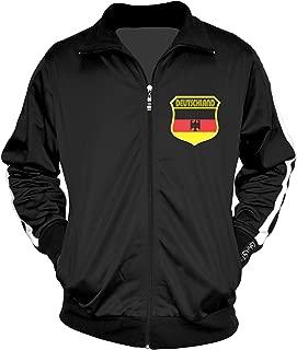 Amdesco Men's German Pride, Deutschland Germany Track Jacket