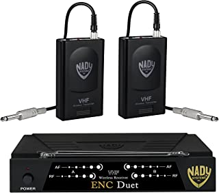 Nady ENC DUET Wireless Dual Channel Instrument/Guitar System with 2 Wireless Guitar Transmitters