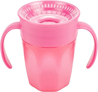 Dr. Brown's Cheers 360 Spoutless Training Cup, 6m+, 7 Ounce, Pink