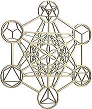 "ZenVizion 13.5"" Metatron's Cube Wall Art, Sacred Geometry Home Decor, Meditation Symbol, Yoga Hanging Artwork, Laser Cut W..."