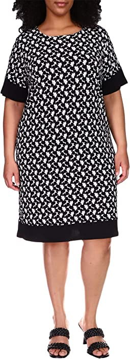 Plus Size Sixties Border Dress
