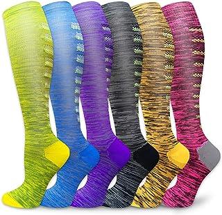 Compression Socks Women & Men Circulation 20-30 mmHg- Best for Athletic Running Flight Travel,Pregnant,Hiking