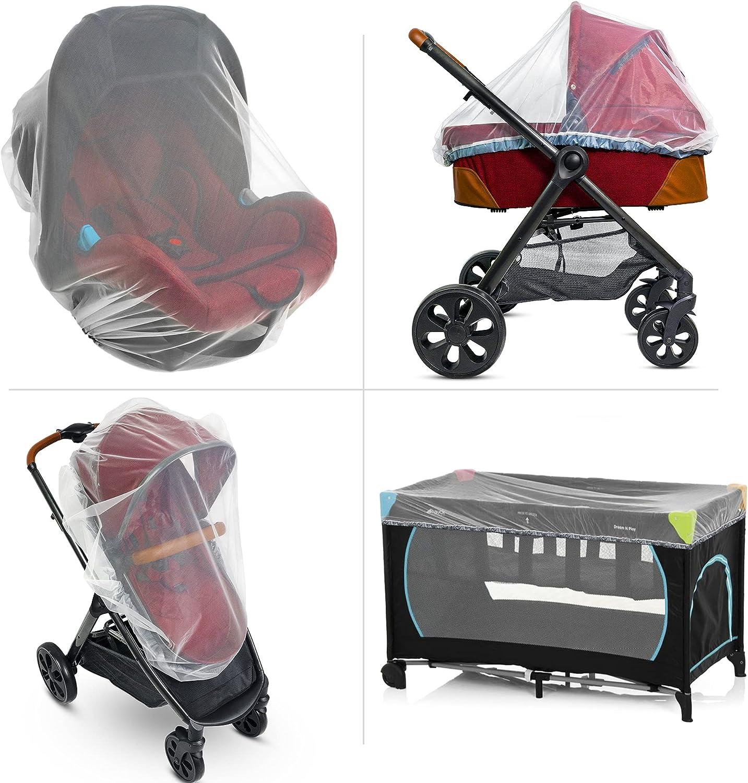 Baby Mosquito Net for Stroller, Carrier & Bassinet – Elastic Drawstring for Snug Fit Netting - Infant Bug Net for Jogger, Car Seat & Pack N Play – 1000 Mesh Toddler Canopy & Gift Packaging