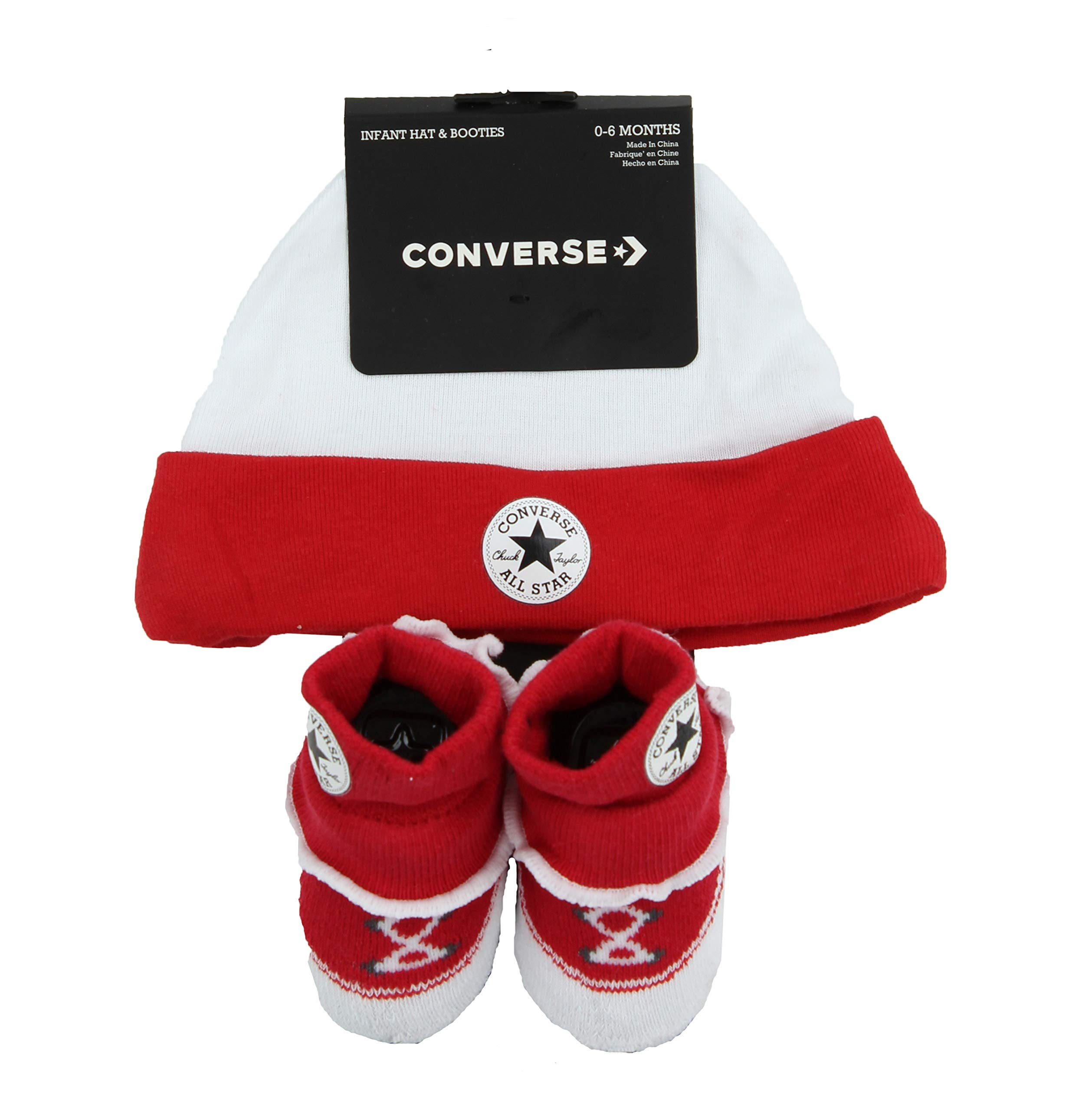 converse infant hat and booties