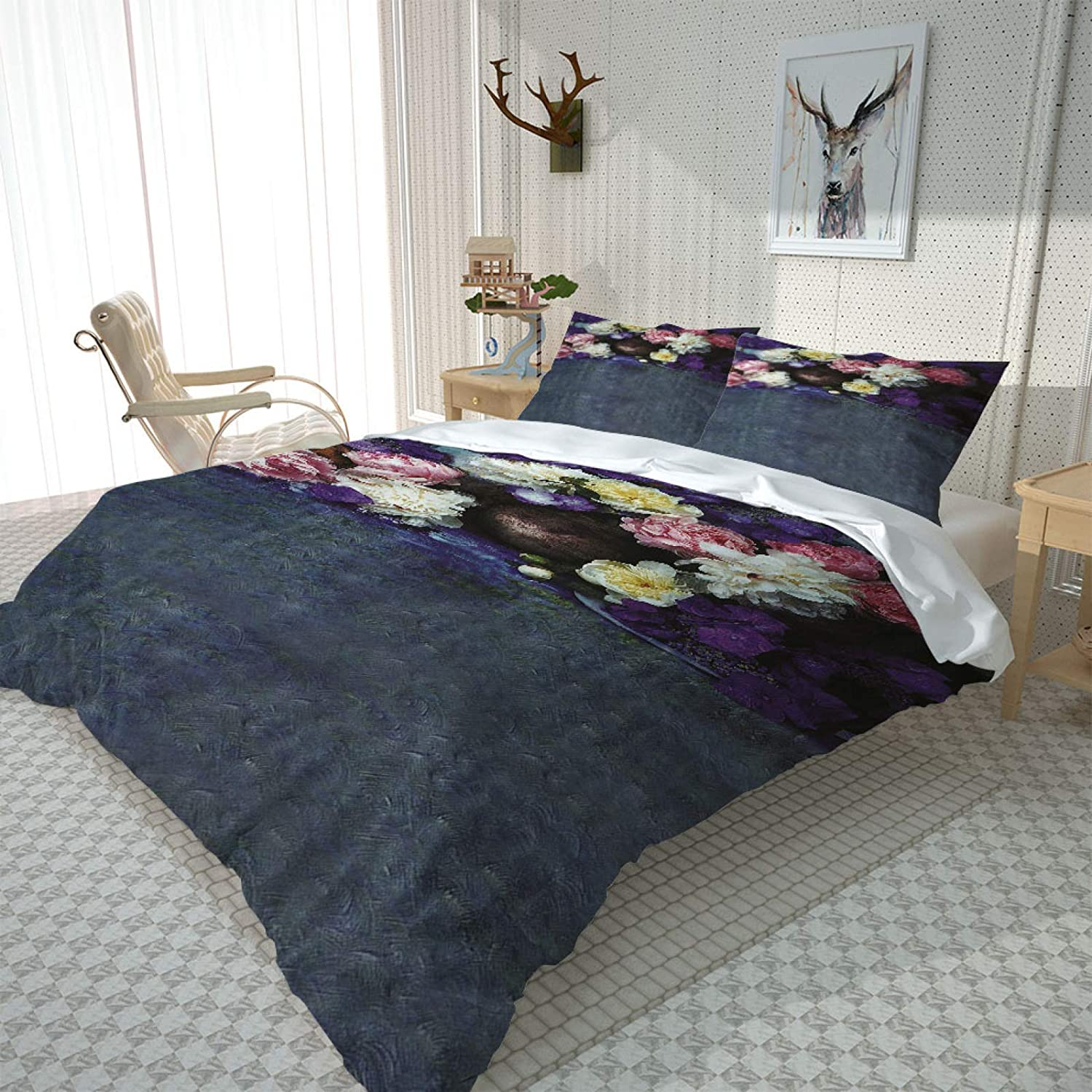 HKDGHTHJ 3D Bedding is Super Soft Credence and Vintage Oil Luxury Comfortable Pa