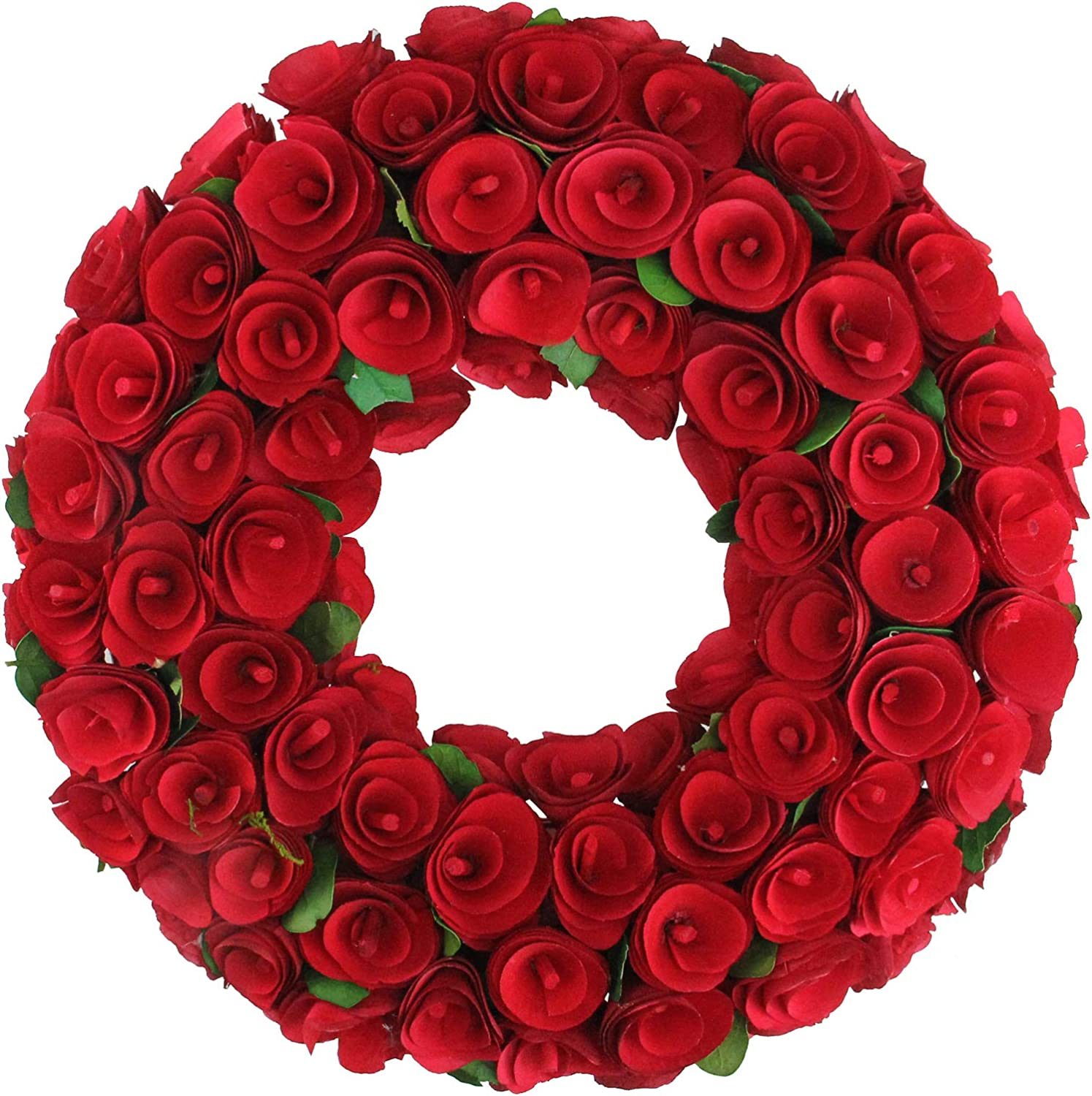 Popular products Be super welcome Northlight Red Wooden Rose Floral Artificial Wre Valentine's Day
