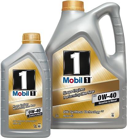 Mobil 153686 Fs 0w 40 Gasoline Diesel 5 Liter Plus 1 Liter Auto