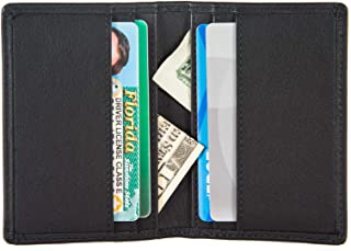 RFID Slim Bifold Wallet Card Holder - Minimalist Front Pocket Wallet for Men
