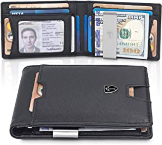 Slim Wallet with Money Clip AUSTIN RFID Blocking Card Mini Bifold Men