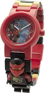 LEGO Ninjago 8020547 Sky Pirates Kai Kids Minifigure Link Buildable Watch | red/Black | Plastic | 25mm case Diameter| Analogue Quartz | boy Girl | Official