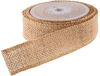 DECORA Natural Wide Burlap Ribbon on Spool for Wedding Decoration DIY Crafting,1.5inch/10 Yard