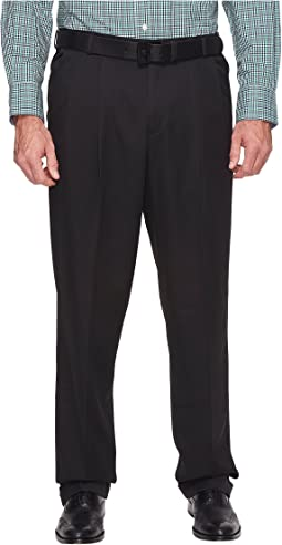 Big and Tall Double Pleat Melange Portfolio Dress Pants
