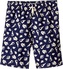 Appaman Kids - Shell Print Mid Length Swim Trunks (Toddler/Little Kids/Big Kids)