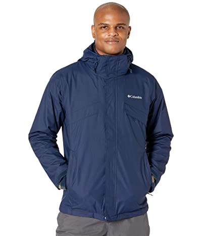 Columbia Bugabootm II Fleece Interchange Jacket (Collegiate Navy/Stone Green Check Print/Collegiate Navy) Men