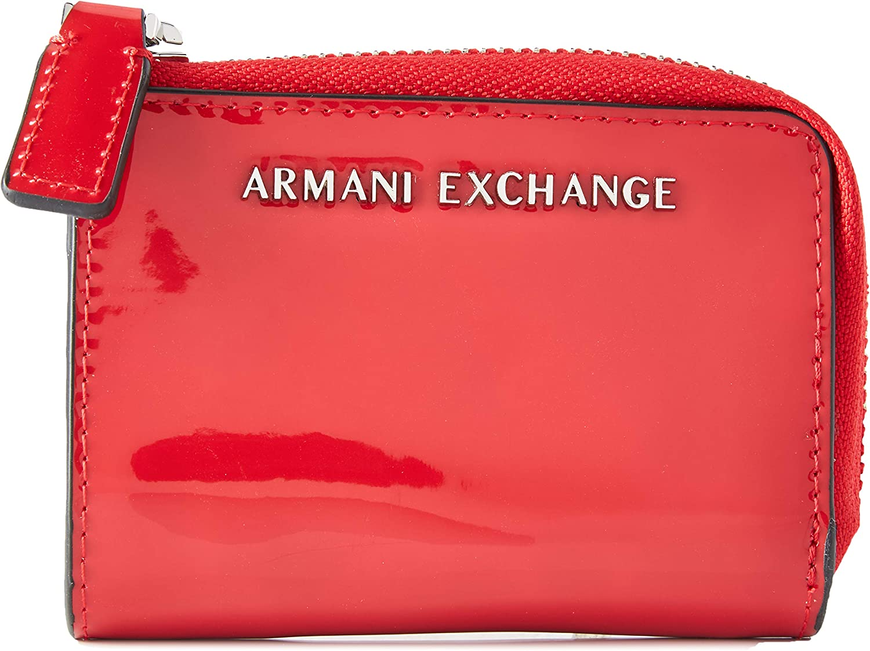 AX Armani Exchange Men's Small Round Zip Wallet