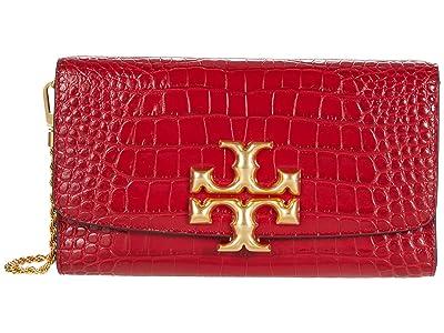 Tory Burch Eleanor Embossed Clutch (Redstone) Handbags