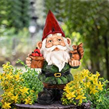 VAINECHAY Garden Decor Outdoor Statues Decorations Garden Gnome Statue Funny Gnomes for Outside Patio Yard Clearance Lawn ...
