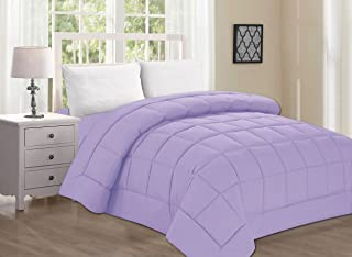 Elegant Comfort Luxury Comforter on Amazon Ultra Plush Down Alternative Double-Filled Comforter%100 Hypoallergenic, Twin/Twin XL, Lilac