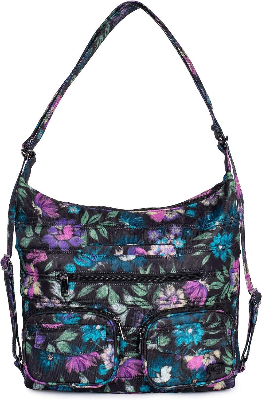 Lug Zip Liner Convertible Bag, Bloom Black
