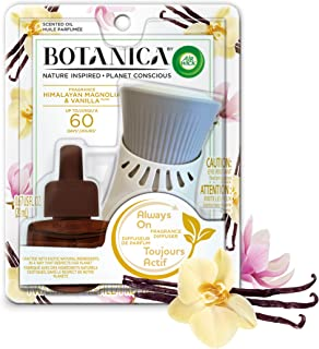 Botanica by Air Wick Plug in Scented Oil Starter Kit, 1 Warmer + 1 Refill, Himalayan..