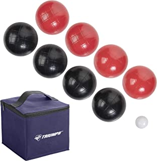 Triumph 100mm Classic Bocce Ball Set - Includes 8 Bocce Balls, Jack and Carry Case