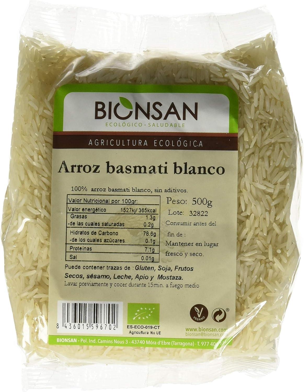 Bionsan Arroz Largo Integral Ecológico - 6 Bolsas de 500 gr - Total : 3000 gr