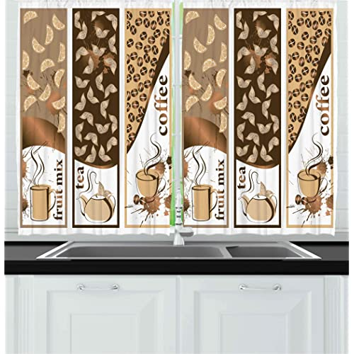 Coffee Kitchen Curtains: Amazon.com
