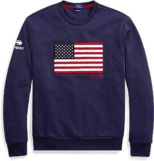 Polo Ralph Lauren Men's Blue Us Open Flag Fleece Sweatshirt