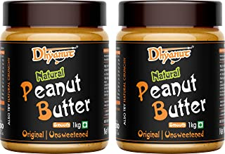 Dhyanut Natural Peanut Butter Smooth | Made with 100% Roasted Peanuts | 2 Kg