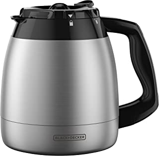 BLACK+DECKER 12-Cup Replacement Thermal Carafe with Duralife Construction, Stainless Steel, TC1200B
