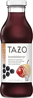 Tazo Brambleberry Iced Tea, 13.8 Ounce Glass Bottles, 8 Count