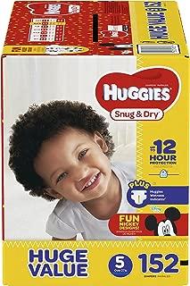 HUGGIES Snug & Dry Diapers, Size 5, 152 Count, HUGE PACK (Packaging May Vary)