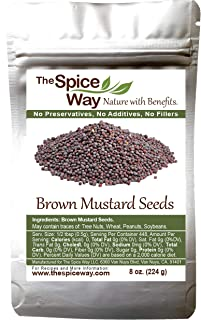 The Spice Way Brown Mustard Seeds - whole seeds, 8 oz