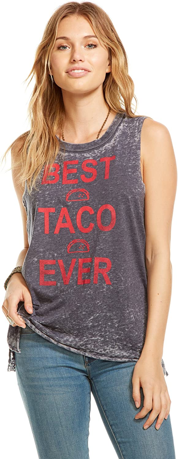 Chaser Clothing Avalon 'Best Taco Ever' Muscle Tank Top