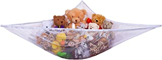 Jumbo Toy Hammock - Organize stuffed animals or children's toys with the mesh hammock. Looks great with any décor while neatly organizing kid's toys and stuffed animals. Expands to 5.5 feet - White