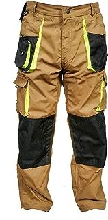 Juicy Trendz Men Work Trouers Heavy Duty Worker Wear Cargo Combat Kneepad Pockets Working Pants