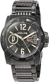 [ポリス]POLICE 腕時計 SCOUT クォーツ ステンレススチール(ブラックIPコーティング) ブラック文字盤 メンズ PL.12221JSB/02M メンズ 【正規輸入品】