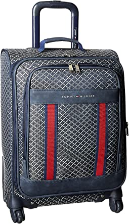 "Diamond Jacquard 21"" Upright Suitcase"