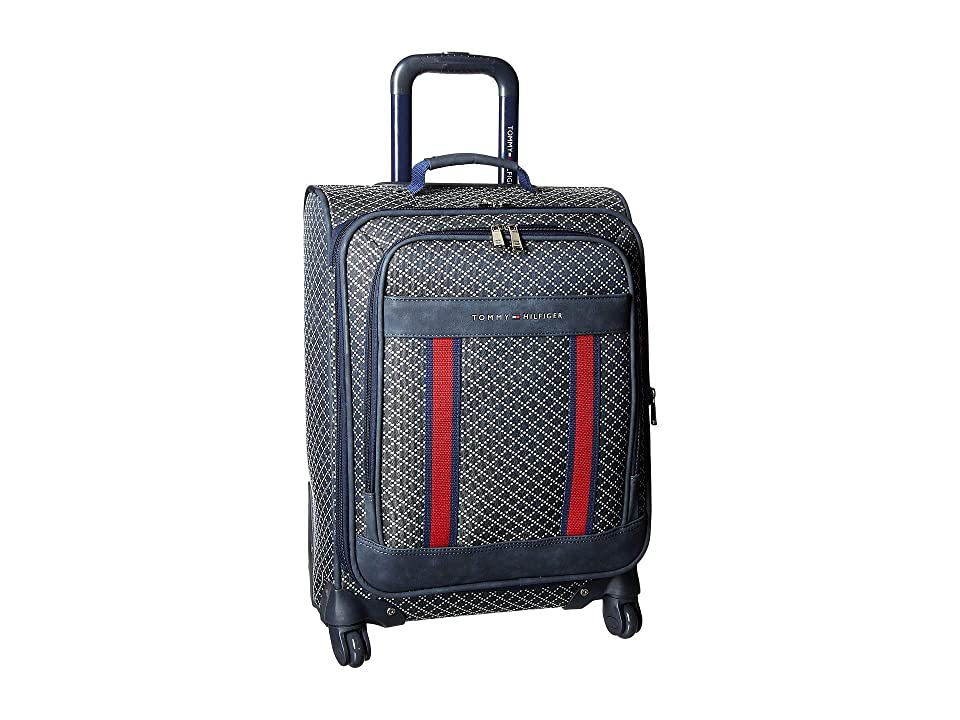 Tommy Hilfiger Diamond Jacquard 21 Upright Suitcase (Navy) Luggage